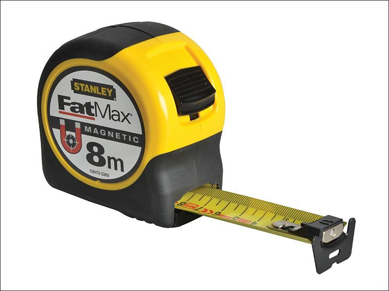 100% Vero Stanley Fatmax Punta Magnetica Nastro 8m Metrico Solo Sta033868 0-33-868-mostra Il Titolo Originale